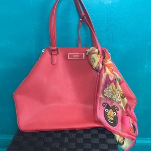 🥳HOST PICK🥳  DKNY red all leather bag